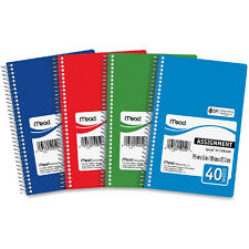 12 Pack New Mead 5x7.5 Class Homework Assignment Books, 40 Pages/Book, 50050