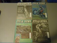 LOT OF 4 AUGUST 1991 CYCLE NEWS MOTORCYCLE NEWSPAPERS,JONES,TROY NATIONAL,PEORIA