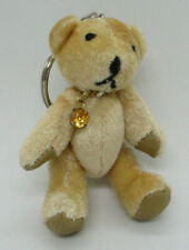 Keychain Teddy Bear Stuffed Plush Jointed Toy with October Birthstone 3""