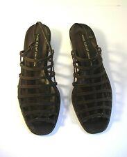 ANNE KLEIN Couture Gladiator Sandals 7 US - NiB Vintage made Italy  Grosgrain