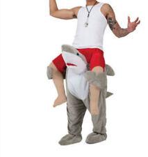 Cool Carry me Shark Fish Ride on Pants Adult Mascot Costume fancy dress Shoulder