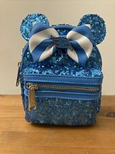 More details for disney cruise line loungefly sequin wristlet teal bnwt