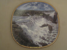 BALD EAGLE collector plate NIAGARA FALLS Thundering Waters #1 FRANK D MILLER