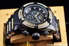 Invicta Men 53mm Bolt Zeus Tri Cable Chrono Black Pearl SS Silicone Strap Watch