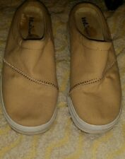 WOMEN'S  KED SLIP ON MULES SHOES  BEIGE CANVAS  SIZE 7