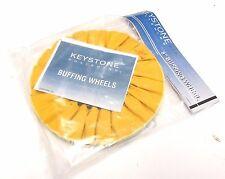 "* NEW ..  Keystone Polishing Yellow Airway Buffing Wheel 8"" Treated .. VU-002"