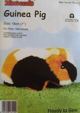 Guinea Pig Soft Toy Kit - Make Your Own - Cuddly Fur Fabric - Gift Children Sew