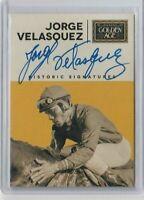 2014 Panini Golden Age Jorge Velasquez Historic Signatures #VEL On Card Auto