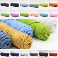 New 100g/PC Chunky Milk Cotton Yarn Bulky Knitting Wool Crocheting DIY Gift