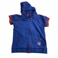 Touch By Alyssa Milano Women's Large Chicago Cubs Short Sleeve Full Zip Hoodie