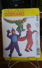 Mccalls Costumes 2335 childs dragon dinosaur Halloween sz 7-8 NEW