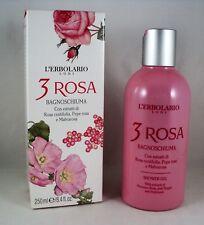 L'ERBOLARIO Bagnoschiuma doccia 3 ROSA 250ml donna detergente corpo fiorito