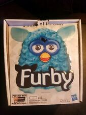 FURBY 2012 HASBRO ELECTRONIC TEAL BLUE Works box and Instructions