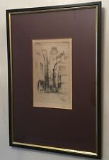 """FEATHERSTONE ROBSON ETCHING """"A STREET IN ROUEN"""""""