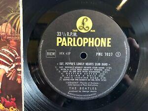 THE BEATLES SGT PEPPERS RARE BIEM PARLOPHONE BLACK ORIGINAL FRANCE LP EXC