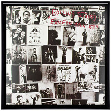 The Rolling Stones Exile on Main Street Framed 12' LP Artwork inc. Vinyl Record
