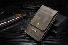 Leather Case Card Large Capacity Pouch Bag Belt Clip Ring Holster For Cellphone