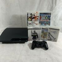 Amazing Playstation 3 (PS3) Slim 160GB Console Bundle with 5 Games Controller
