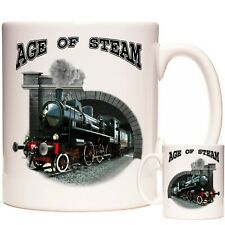 STEAM TRAIN MUG, AGE OF STEAM 2019 design. Gift for people who love steam trains
