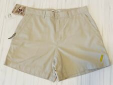 Columbia Women's Roc Shorts 12 Stone khaki tan hiking security zip pocket NWT