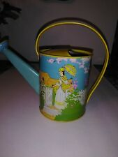 Vintage Ohio Art Tin Litho Child's Watering Can Victorian Woman