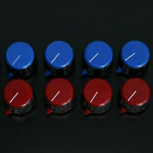 Large Colourful Control Knobs - Red Blue 6mm Hole - Amp/Mixer Volume Dial