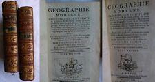 RARA OPERA 700 COMPLETA - GEOGRAPHIE MODERNE 2 TOMI -Ed.Herissant 1769