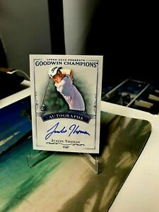 JUSTIN THOMAS RC AUTO A-JT UD GOODWIN CHAMPIONS ROOKIE 2016