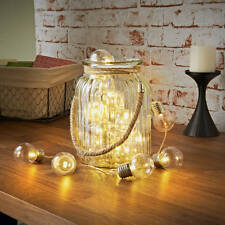 20 LED Retro Electric Light Bulb Warm White Battery String Lights Home Decor