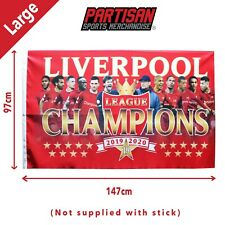 Liverpool Champions Of England 2019/2020 Large Flag Plus 1 Free Istanbul Badge
