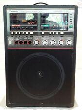Vintage 1970-80s Panasonic Karaoke Machine Rq-92 Super Echo Dual Cassette Works!