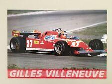 GILLES VILLENEUVE,FORMULA ONE BY GIANCARLO REGGIANI, AUTHENTIC 1980's POSTER
