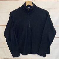 Women's PATAGONIA Capilene 1/2 Zip Pullover Sweater Sweatshirt Black Small S Sm