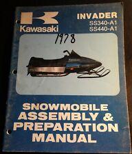1978 Kawasaki Snowmobile Invader Assembly Preparation Manual 99964-3504 (317)