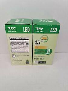 Led lightbulb 2 pack 15 watt or 100 watt equivalent