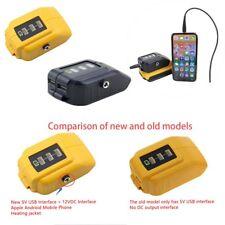 USB Charging Converter For Dewalt Battery DCB091 12V DC Output Heated Jackets