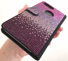 Faded Purple Card Wallet Case Made with Swarovski Crystals Shiny Bling iPhone 7