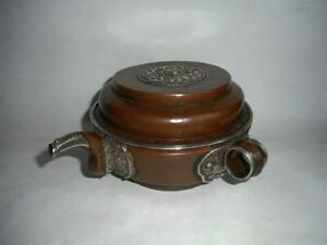 Antique Tibet TOP QUALITY COPPER SILVER BUDDHIST TANTRIC RITUAL HOLY WATER POT