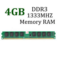 Memoria Ram 4GB DDR3 PC3-10600 DDR3 1333 MHZ 240-Pin Desktop CL9 PC DIMM MEMORY