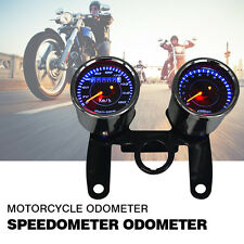 12V 0-180km/h Chrome Motorcbike LED Backlight Odometer & Tachometer Speedometer