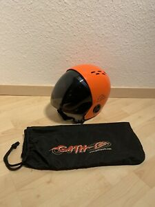 GATH Wassersport RV Helm Retractable Visor XL Orange Kajak Surf Kite Windsurf