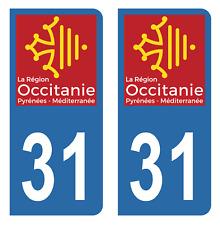 Autocollant Stickers plaque d'immatriculation auto département 31 Haute-Garonne