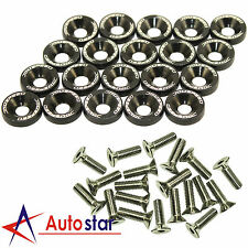 20pcs Black Billet Aluminum Fender/Bumper Washer/Bolt Engine Bay Dress Up Kit