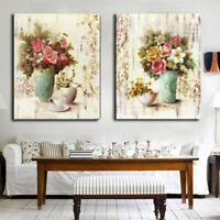 Flower Vase Abstract Wall Art Painting Canvas Print Picture Home Decor