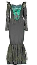 Halloween  Silver Costumes, adult women Size 12 To 14 Wicked Witch/stepmother