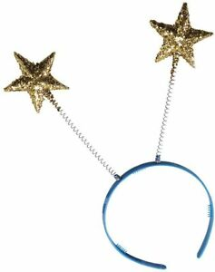 Gold Glitter Star Head Boppers - Costume Accessory Fancy Dress Up World Book Day
