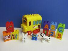 Lego Duplo ABC Amarillo Autobús Escolar Figura Conejo ciudad 123 alfabeto números 26E