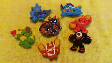 SKYLANDERS shoe charms/cake toppers!! Lot of 7!! FAST USA SHIPPING!!