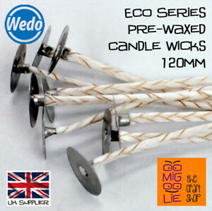 Wedo ECO Pre Waxed Candle Wicks and Sustainers Various Sizes Candle Making *NEW