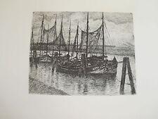Originaldrucke (1900-1949) aus Europa mit Marine & Seefahrt und Radierung